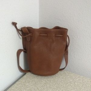 Coach Brown Genuine Leather Bucket Bag
